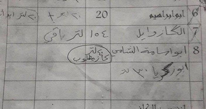 IŞİD'in petrol ticaretiyle ilgili belgeler