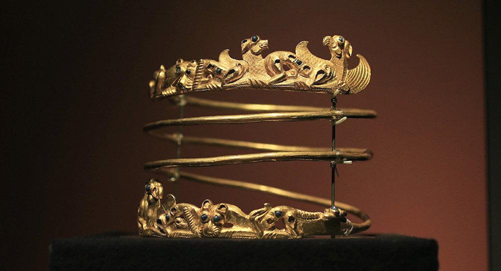 İskit Altını Koleksiyonu'ndan bir parça