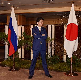 Japonya Başbakanı Şinzo Abe- Rusya- Bayrak