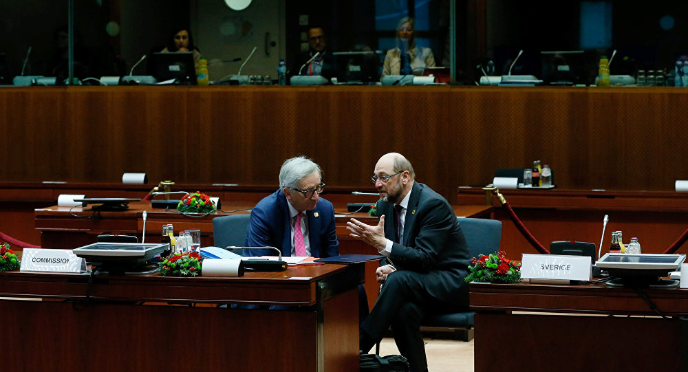 AB Komisyonu Başkanı Jean Claude Juncker- Avrupa Parlamentosu Başkanı Martin Schulz