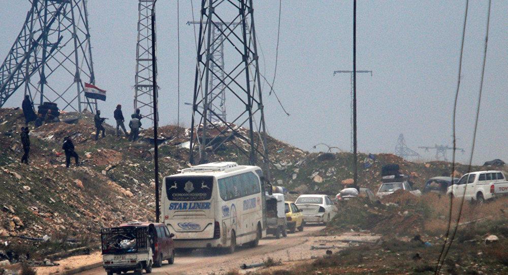 Halep'in doğusunda yapılan tahliye operasyonu