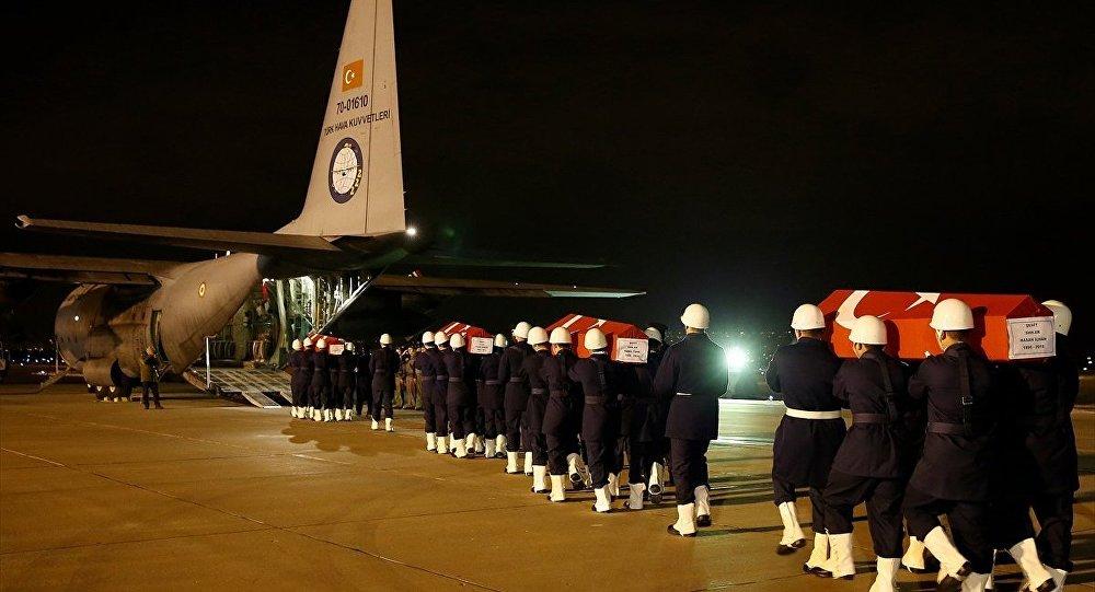 Kayseri'deki saldırının kurbanı askerler, törenle memleketlerine gönderildi
