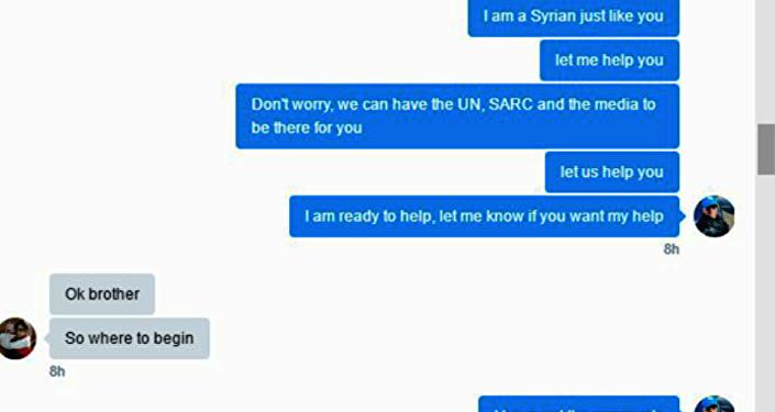 Maytham ve Bana'nın hesabı arasındaki konuşmalar