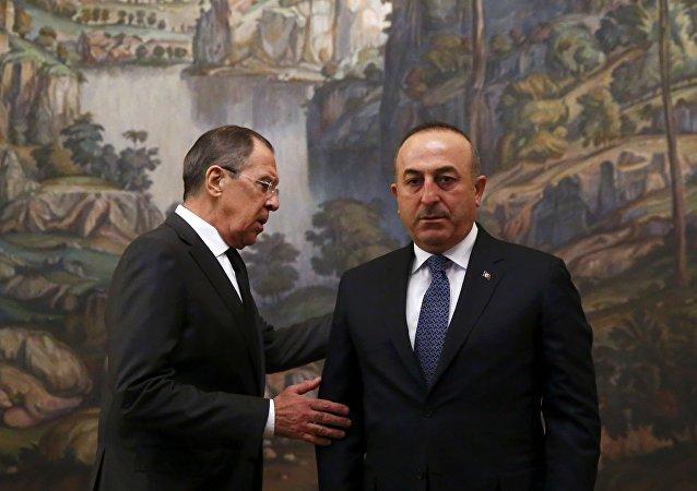 Rusya Dışileri Bakanı Lavrov ve Türkiye Dışişleri Bakanı Çavuşoğlu