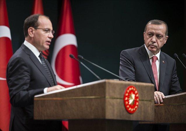 Cumhurbaşkanı Recep Tayyip Erdoğan, Külliye'de Arnavutluk Cumhurbaşkanı Bujar Nishani ile ortak basın toplantısı düzenledi.