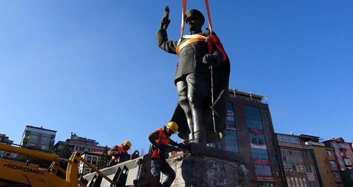 Rize'de Atatürk anıtının kaldırılması