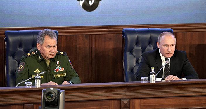 Rusya Devlet Başkanı Vladimir Putin ve Rusya Savunma Bakanı Sergey Şoygu