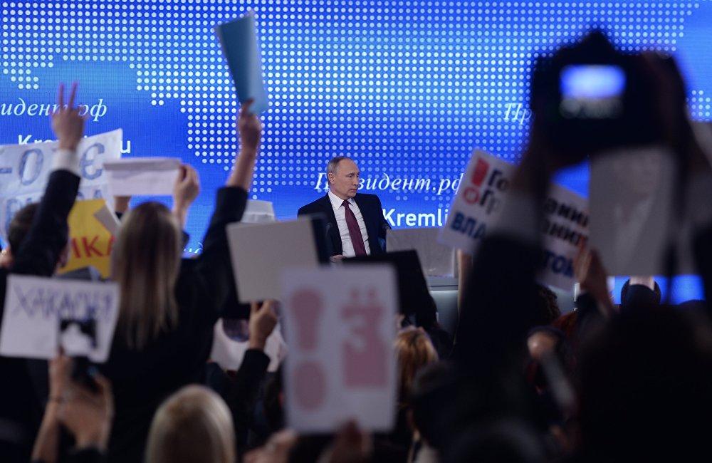 Vladimir Putin / Yılsonu büyük basın toplantısı.