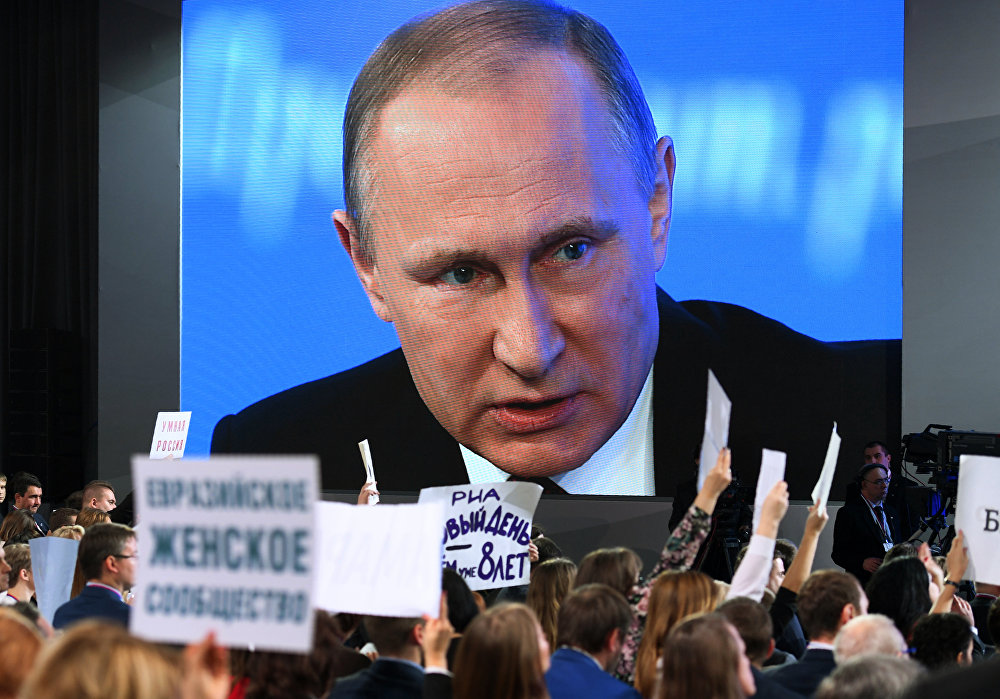 Vladimir Putin / Yılsonu büyük basın toplantısı