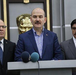 Çeşitli temaslarda bulunmak üzere Siirt'e gelen İçişleri Bakanı Süleyman Soylu, Valiliği ziyaret etti. Soylu, burada açıklamalarda bulundu.