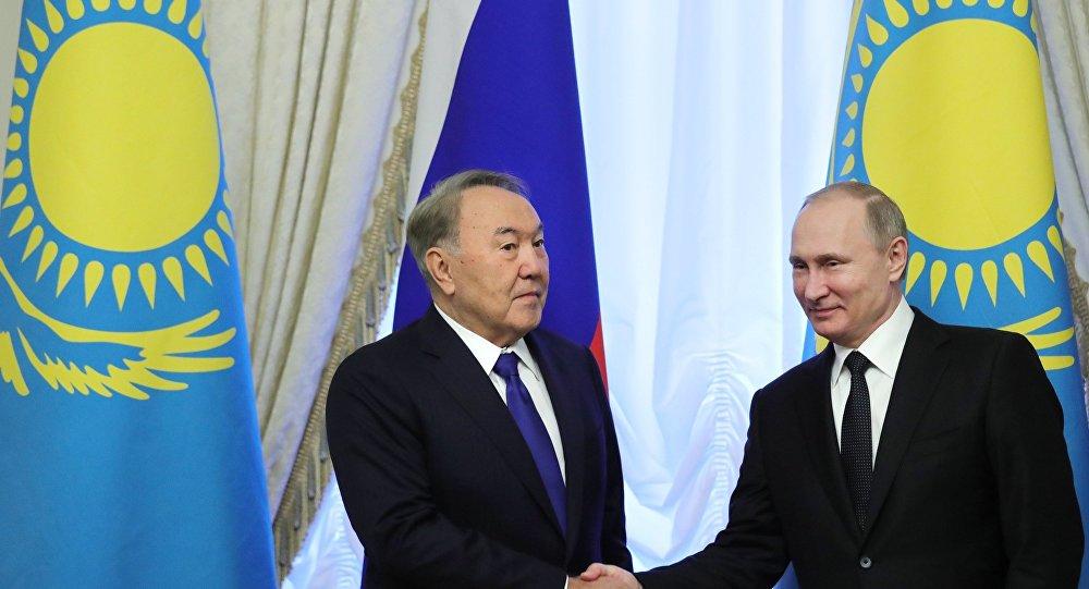 Kazakistan Devlet Başkanı Nursultan Nazarbayev- Rusya Devlet Başkanı Vladimir Putin