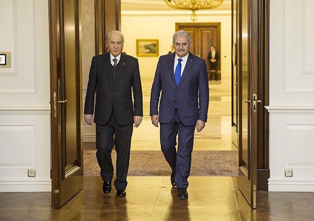 Başbakan Binali Yıldırım ve MHP Genel Başkanı Devlet Bahçeli