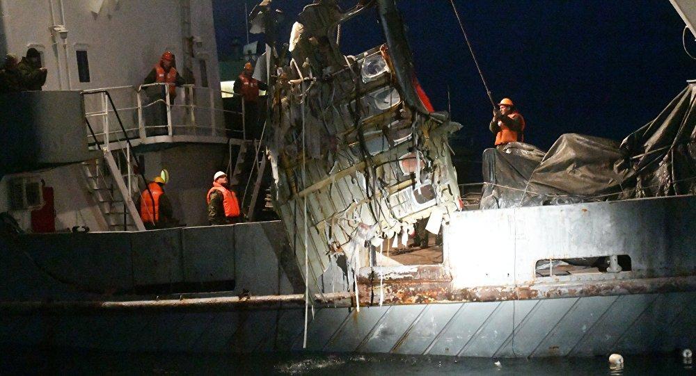 Karadeniz'de düşen Rus uçağının enkazı