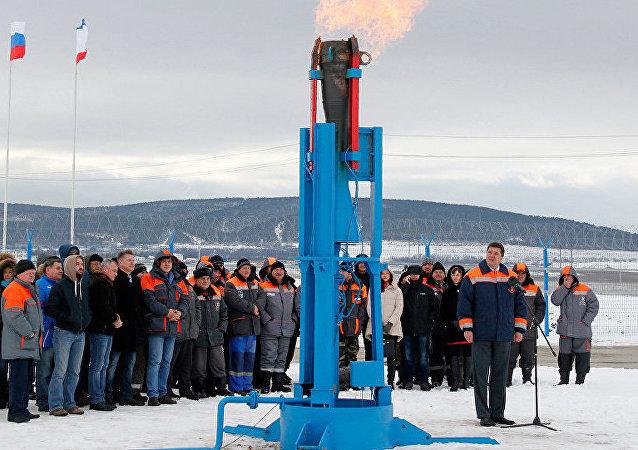 Rusya Devlet Başkanı Vladimir Putin, Rusya'dan Kırım'a gaz sevkiyatını törenle başlattı
