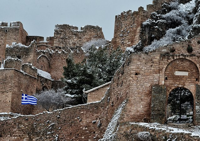 Yunanistan'da kar yağışı