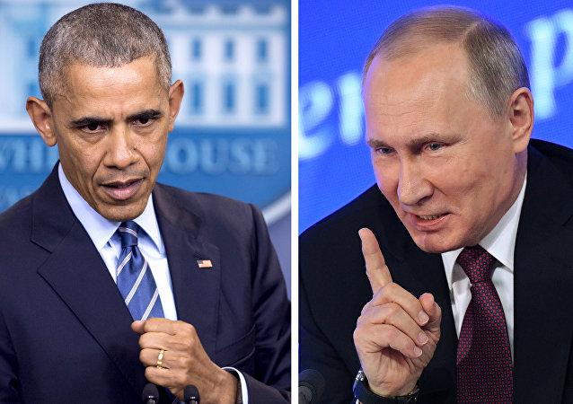 eski ABD Başkanı Barack Obama- Rusya Devlet Başkanı Vladimir Putin