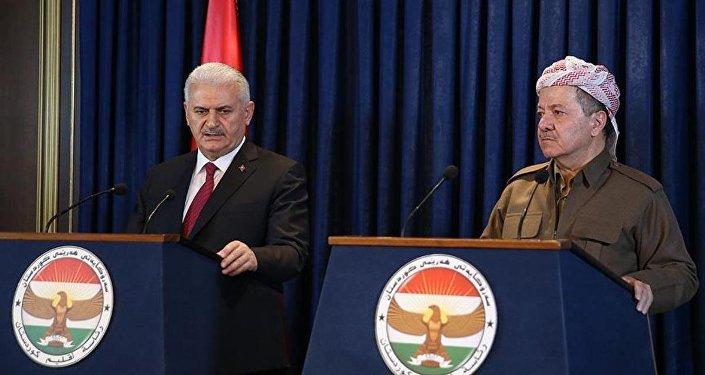 Başbakan Binali Yıldırım- Irak Kürt Bölgesel Yönetimi Başkanı (IKBY) Mesud Barzani