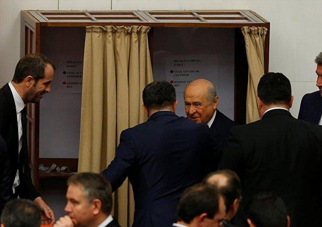 MHP Genel Başkanı Devlet Bahçeli - TBMM anayasa oylaması