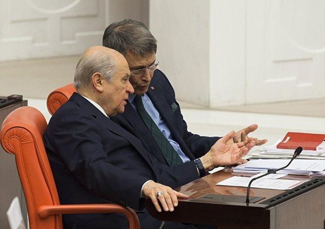 MHP Kayseri Milletvekili Yusuf Halaçoğlu - MHP Lideri Devlet Bahçeli