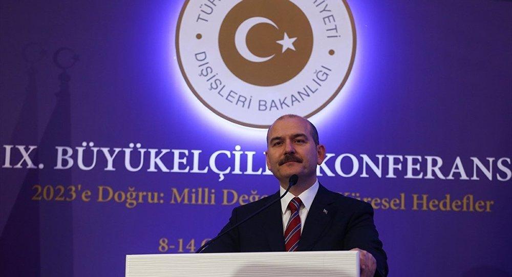 Dışişleri Bakanlığı tarafından düzenlenen 9. Büyükelçiler Konferansı üçüncü gününde devam etti. Konferansa katılan İçişleri Bakanı Süleyman Soylu, konuşma yaptı.