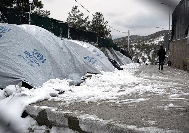 Yunanistan - Midilli - sığınmacı