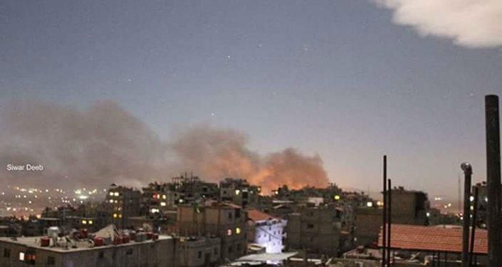 Şam'daki Mezzeh Askeri Havalimanı'na saldırı