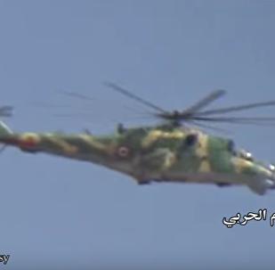 Suriye Savunma Bakanlığı'nın hazırladığı videoda Suriye ordusunun yanı sıra Rus helikopterleri Ka-52, Mi-28H, Mi35M ve Mi-25'in ülkedeki operasyonları görülüyor.