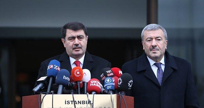 İstanbul Valisi Vasip Şahin ve İstanbul Emniyet Müdürü Mustafa Çalışkan