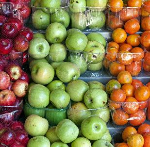 Kırmızı elma, yeşil elma, portakal, mandalina, meyveler