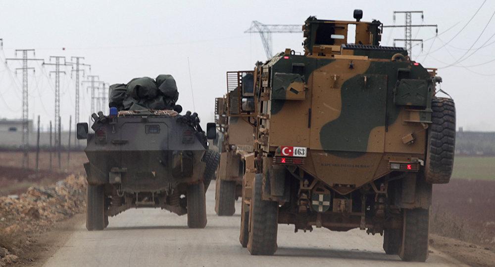 El Bab yönüne giden Türk askeri araçları