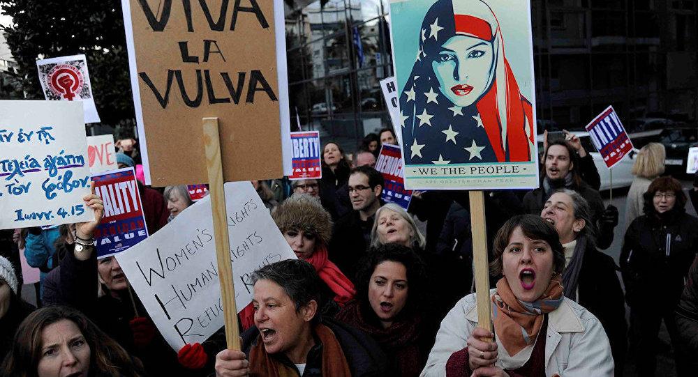 Atina'daki Trump karşıtı eylemler
