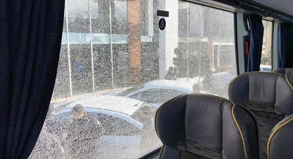 Amedspor'un takım otobüsü taşlandı