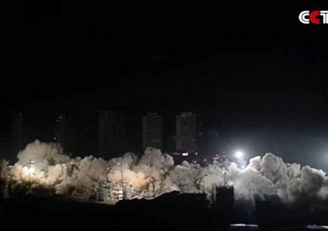 Çin'de yıkım