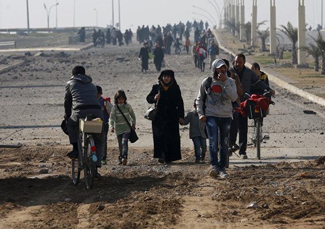 Musul'un doğusundaki siviller