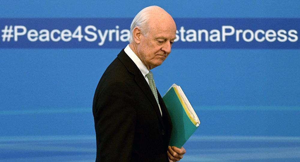 BM Suriye Özel Temsilcisi De Mistura görevi bırakıyor