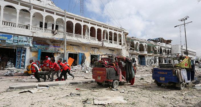 Somali'nin başkenti Mogadişu'da Dayah Otel'e saldırı düzenlendi