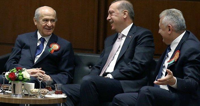 Recep Tayyip Erdoğan - Binali Yıldırım - Devlet Bahçeli