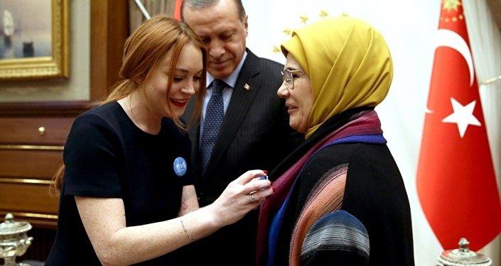 Lindsay Lohan Cumhurbaşkanlığı Külliyesi'nde