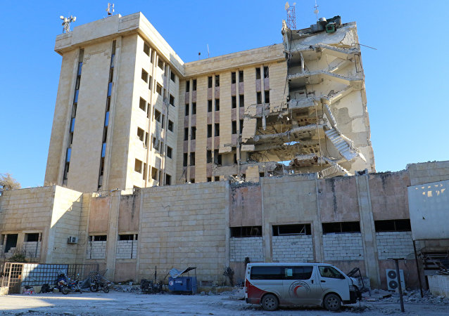 İdlib'de vurulan Kızılay binası