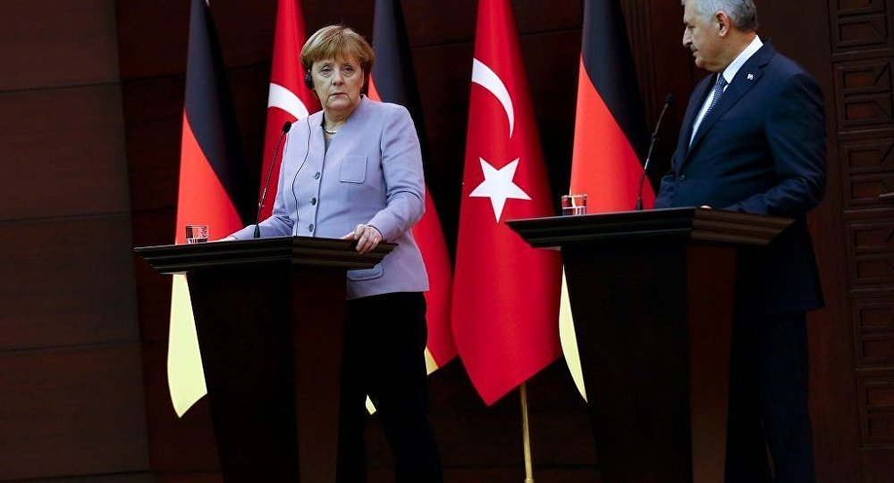 Binali Yıldırım - Angela Merkel