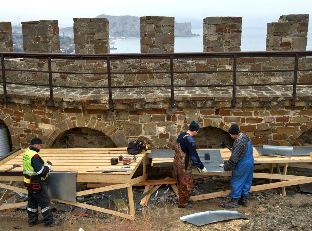 Sudak'taki Ceneviz Kalesi restore ediliyor