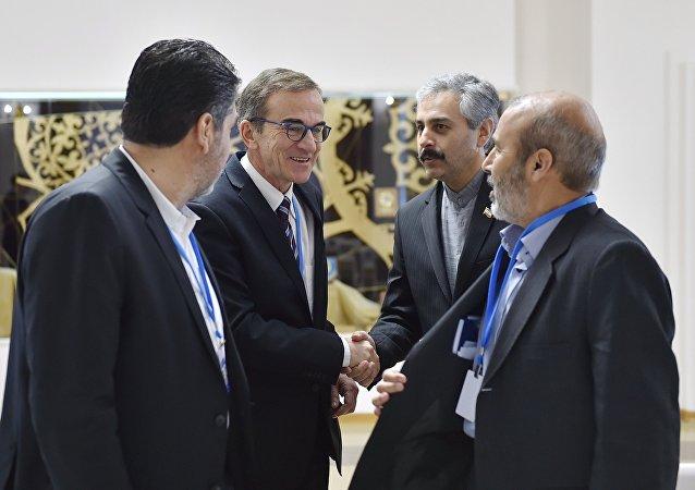 Rusya, Türkiye ve İran, Astana'da bir araya geldi.