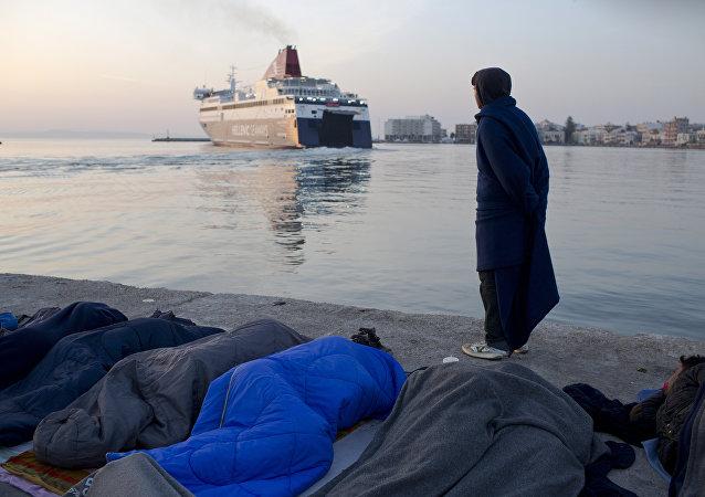 Yunanistan - Sakız adası / Sığınmacı
