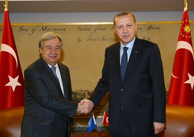 Cumhurbaşkanı Recep Tayyip Erdoğan- Birleşmiş Milletler (BM) Genel Sekreteri Antonio Guterres