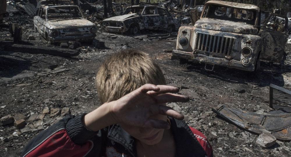 Donetsk bölgesinin Lozovoye kasabasına düzenlenen saldırının sonuçları.