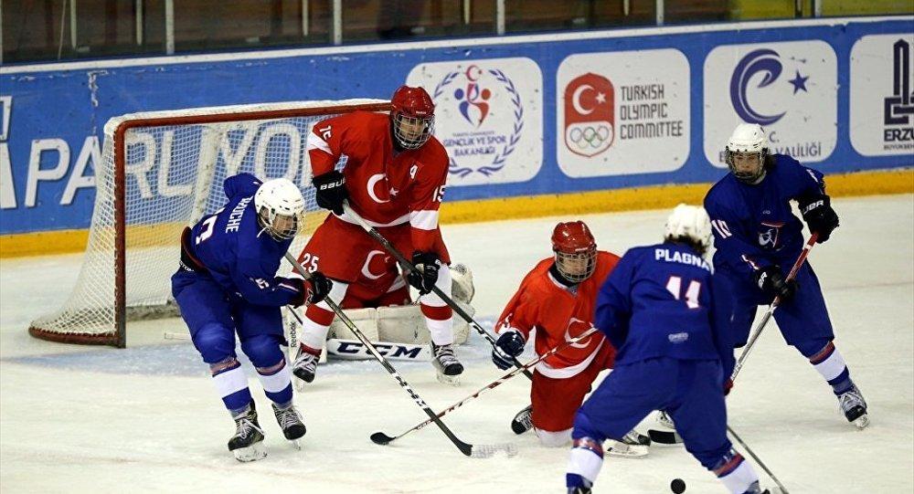 Türkiye - Fransa Buz Hokeyi