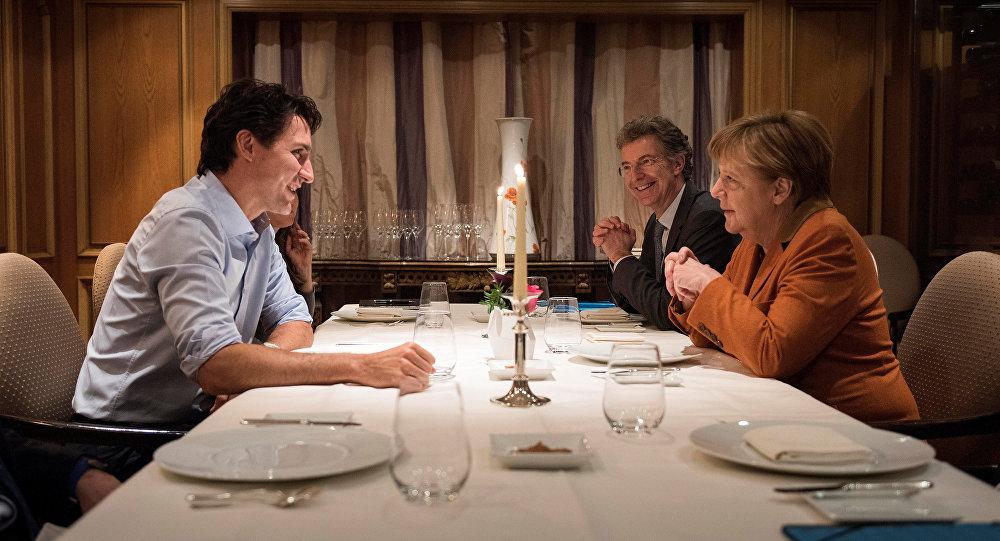 Angela Merkel - Justin Trudeau