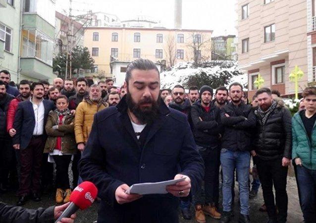Trabzon'un Kalkınma Mahallesi'nde sigara protestosu