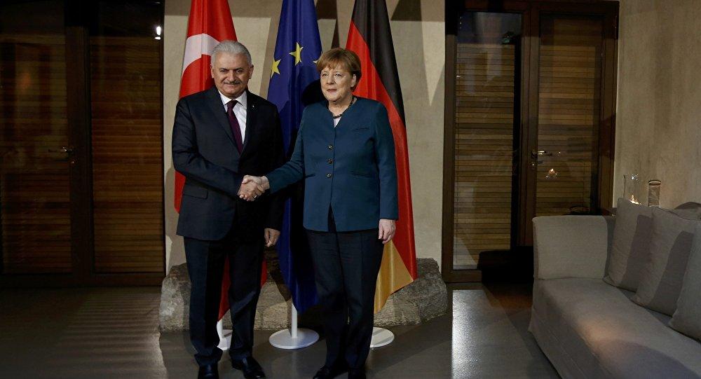 Başbakan Binali Yıldırım- Almanya Başbakanı Angela Merkel