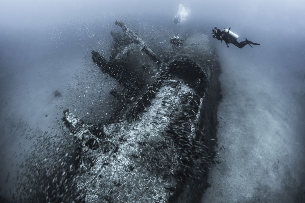 ABD'li Tanya Houppermans'ın 'Tarih yakalayan' isimli fotoğrafı 'Batık gemiler' kategorisinde ödül aldı.